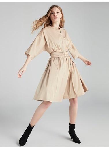 Kısa Kollu Kemerli Elbise-Ipekyol
